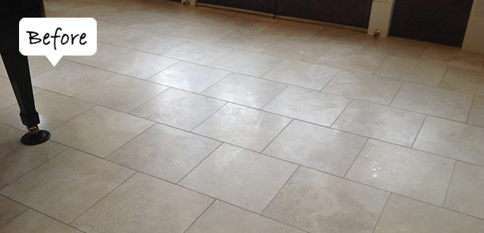 Sir Grout Phoenix Travertine Before Honing and Polishing