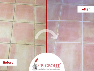 Before and After Picture of a Grout Cleaning Service in Chandler, Arizona