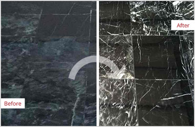 Sir Grout Phoenix Black Marble Stone Honing and Polishing