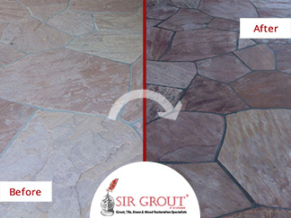Flagstone Patio Gets Revamped with a Stone Sealing Service in Scottsdale, Arizona