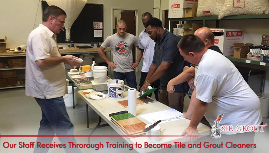 Our Staff Receive Thorough, Constant Training to Become Tile and Grout Cleaners